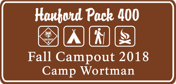 Pack 400 Fall Campout Logo 2018
