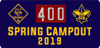 Pack 400 Spring Campout 2019 Logo